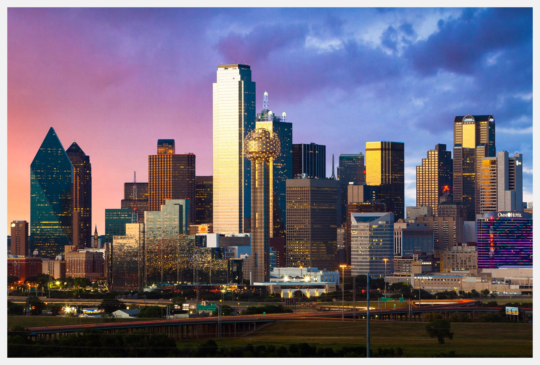 Dallas Texas Skyline At Twilight