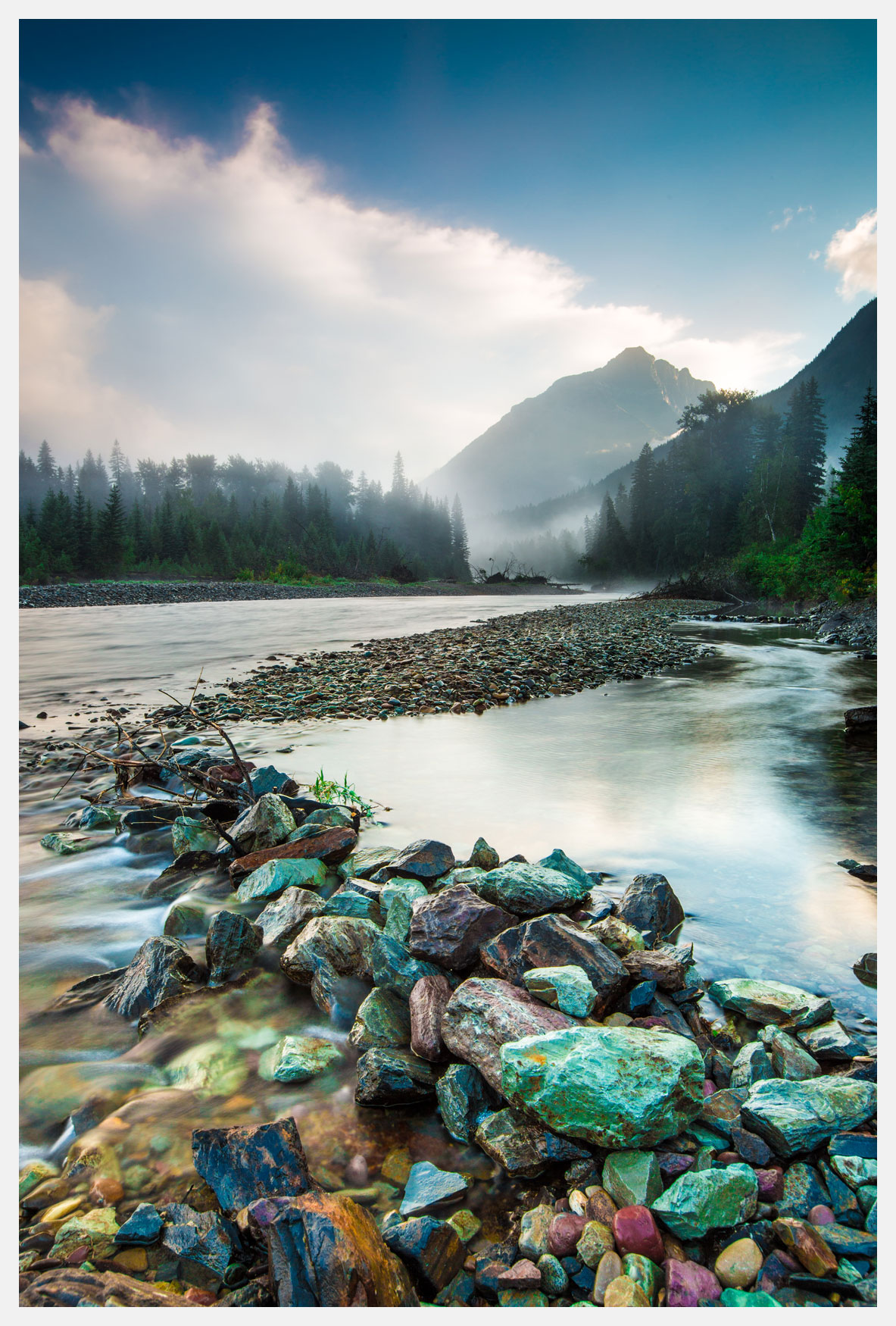Stream-with-colored-stones-Glacier-National-Park