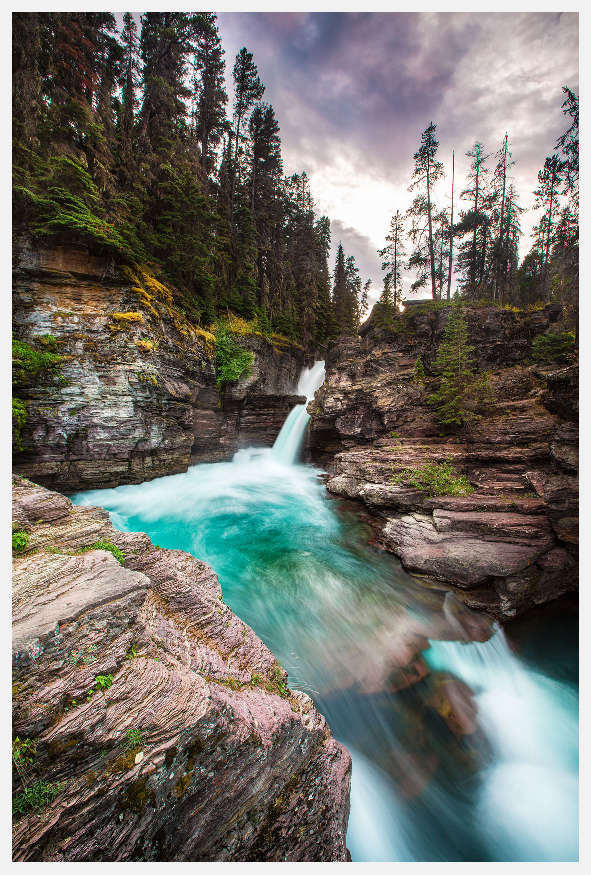 Waterfall-Glacier-National-Park-Montana